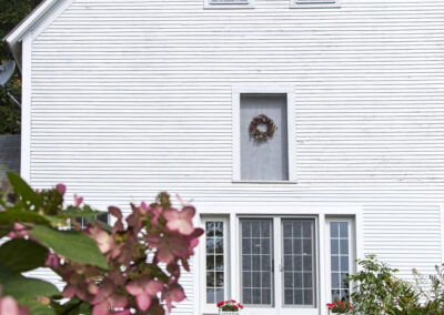 image of back door of barn