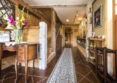 Hallway in the barn